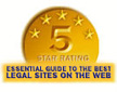 5 Star Rating - Essential Guide to the Best Legal Sites on the Web